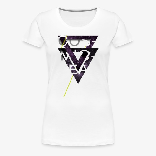 Cosmicleaf Triangles - Women's Premium T-Shirt