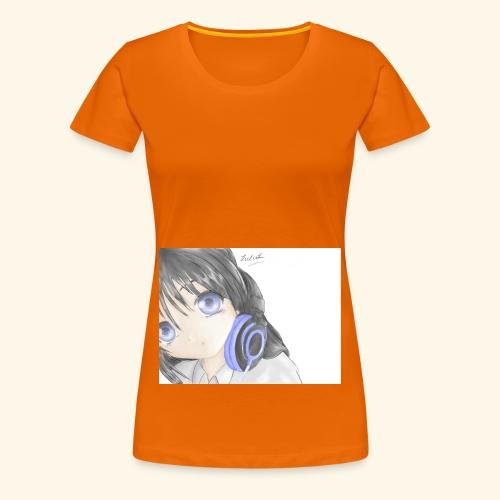 Anime Girl with Headphones - Women's Premium T-Shirt