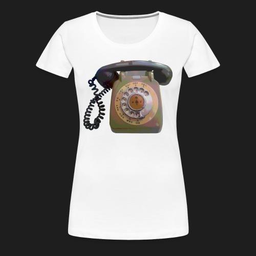 Grey Telephone - Women's Premium T-Shirt