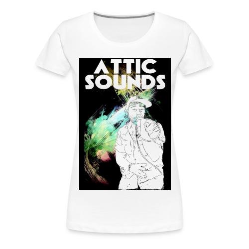 Attic Sounds Motiv 1 G Wischfinger II d jpg - Frauen Premium T-Shirt