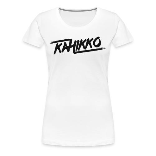 Kahikko Black - Naisten premium t-paita