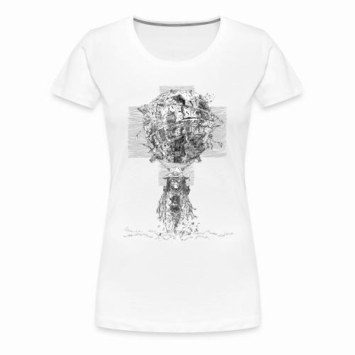 Si-Fi Mechanic - Original illustration - Women's Premium T-Shirt