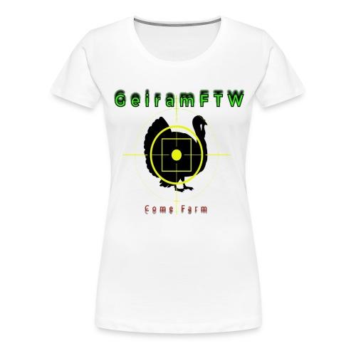 geirhøyop png - Premium T-skjorte for kvinner
