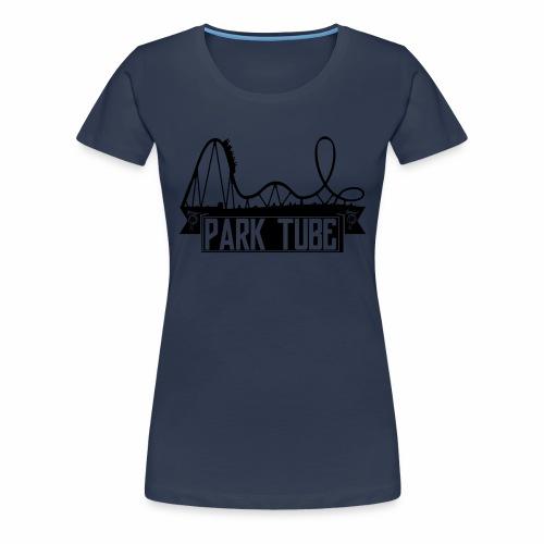 ParkTube Banner mit Achterbahn schwarz - Frauen Premium T-Shirt