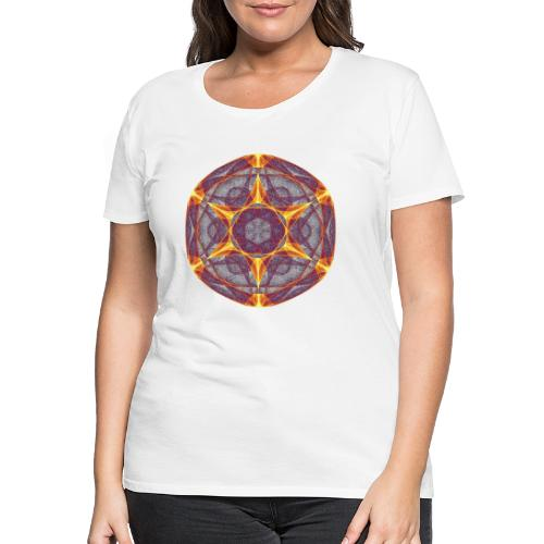 Star Poinsettia Mandala Lucky Star 9401I - Women's Premium T-Shirt