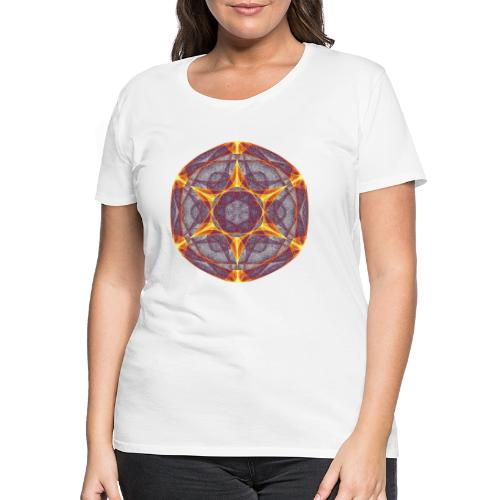 Stern Weihnachtsstern Mandala Glücksstern 9401I - Frauen Premium T-Shirt