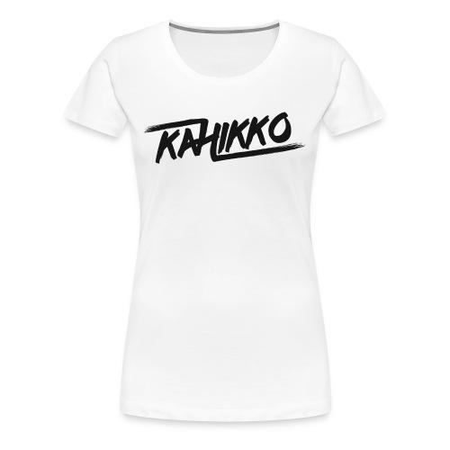 Kahikko Classic Logo Black - Naisten premium t-paita