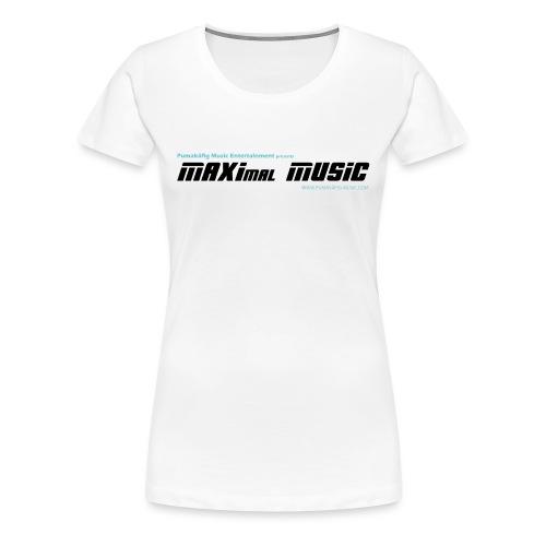 maximal music logo schwarz 01 orig01 - Frauen Premium T-Shirt