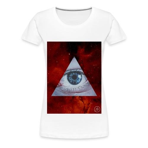Blue Eyes Red Nebula - Women's Premium T-Shirt