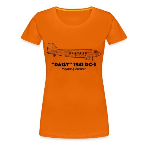 Daisy Blueprint Side 1 - Premium-T-shirt dam