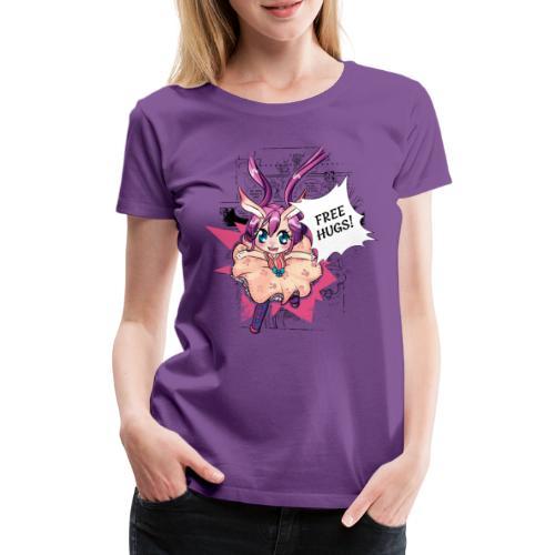 Free hugs (black lines) - Women's Premium T-Shirt