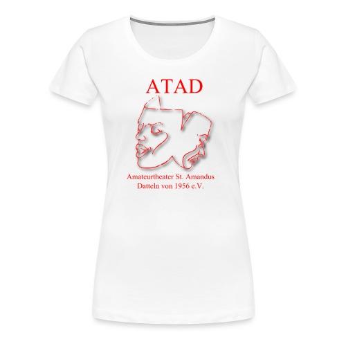 Logo Leicht mit Schrift rot1300x1300px - Frauen Premium T-Shirt
