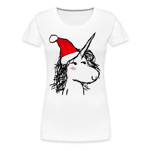 unicorno Natale - Maglietta Premium da donna