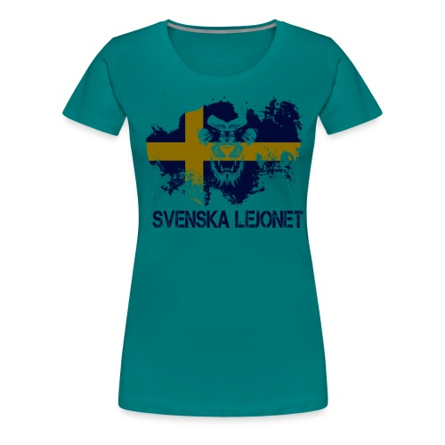 Svenska Lejonet Official Chest Logo - Premium-T-shirt dam