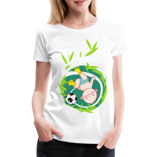 Umstandsmode T-Shirt mit Motiv / Fussball - Frauen Premium T-Shirt