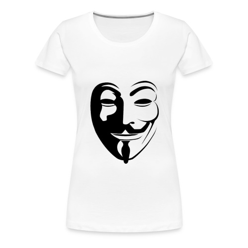 Anonymous Round Face - Naisten premium t-paita