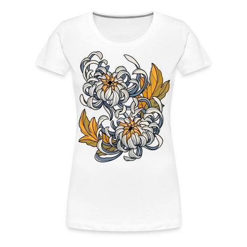 Chrysanthèmes enlacés - T-shirt Premium Femme