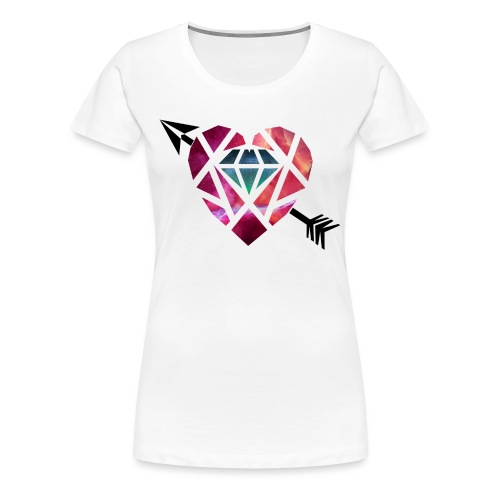 Heart Galaxy - Camiseta premium mujer