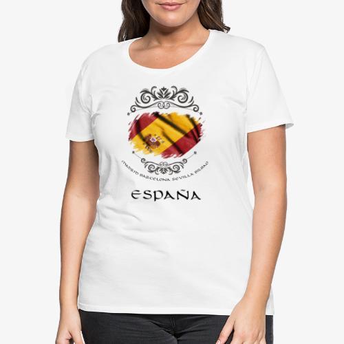 Spain Vintage Flag - Frauen Premium T-Shirt