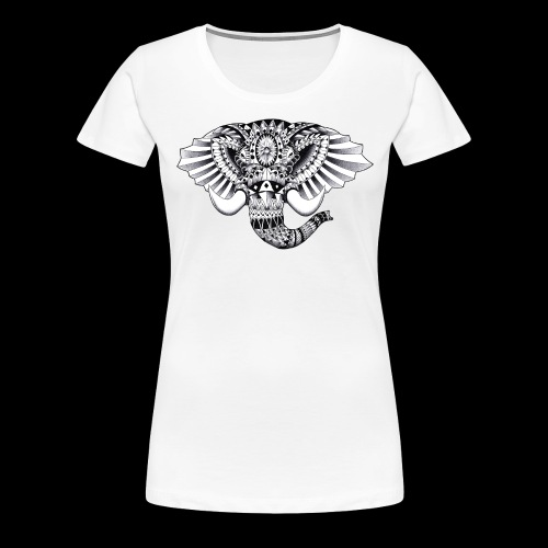 Elephant Ornate Drawing - Maglietta Premium da donna