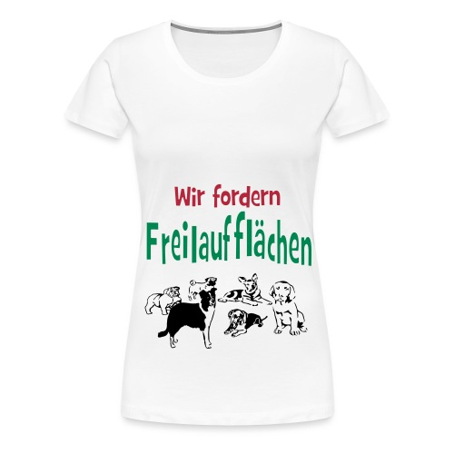 Hunde-Freilaufflächen -1 - Frauen Premium T-Shirt