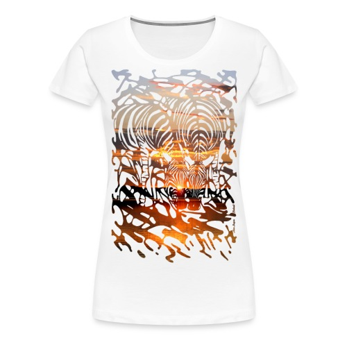 Zebras at Sunset - Naisten premium t-paita