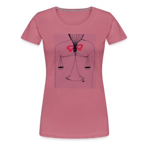 Libra Horoscope - Premium-T-shirt dam