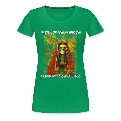 El Dia De Los Muertos Skeleton Design - Women's Premium T-Shirt