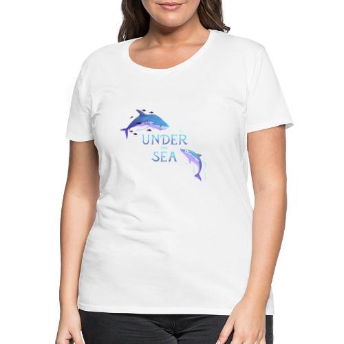 Under the Sea - Shark and Dolphin - Women's Premium T-Shirt