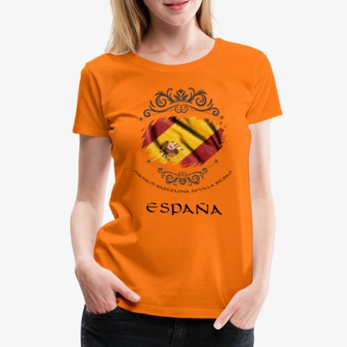 Spain Vintage Flag - Frauen Premium T-Shirt