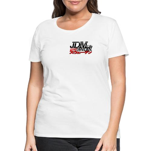 JDM Life Sweden savrt logga - Premium-T-shirt dam