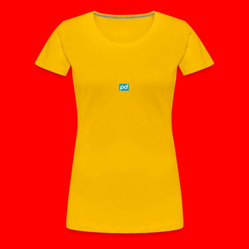 pd Blue - Dame premium T-shirt