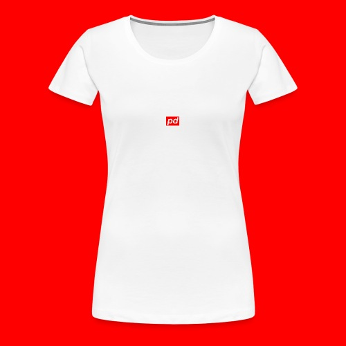 pd Red - Dame premium T-shirt