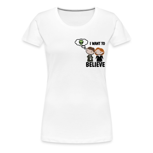 x files i want to believe - Camiseta premium mujer