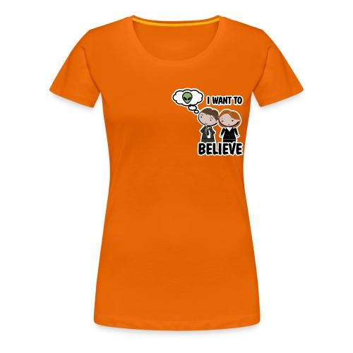 x files i want to believe - Camiseta premium mujer