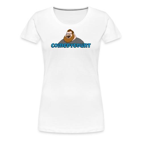COMEDY LOGO - Dame premium T-shirt