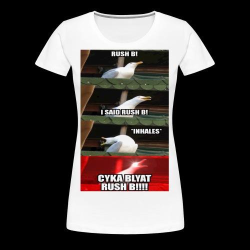 Logo Rush B - Frauen Premium T-Shirt