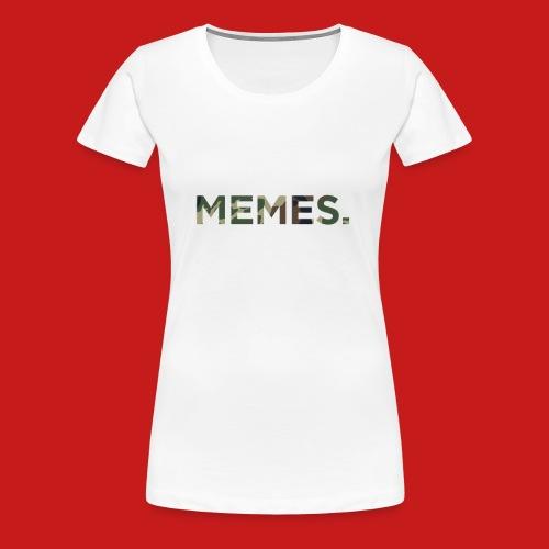 Classic Meme T-shirt CAMO - Women's Premium T-Shirt