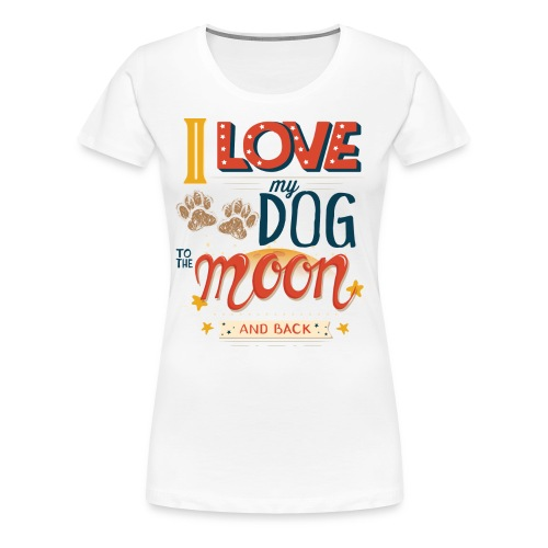 Moon Dog Light - Premium-T-shirt dam