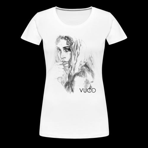 Thoughtful Girl - von VUCO - Frauen Premium T-Shirt