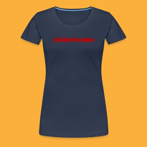 DJATODOCOLOR LOGO ROJO - Camiseta premium mujer