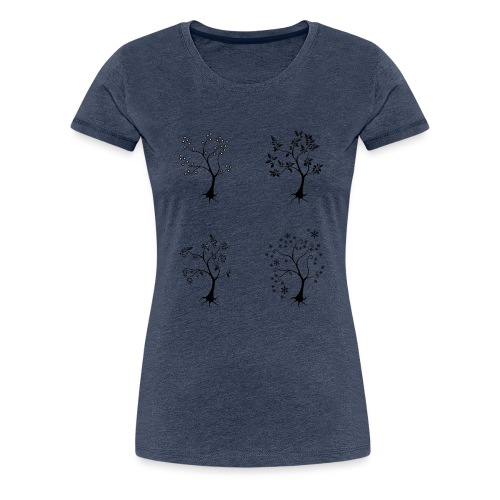 Vuodenajat - Naisten premium t-paita