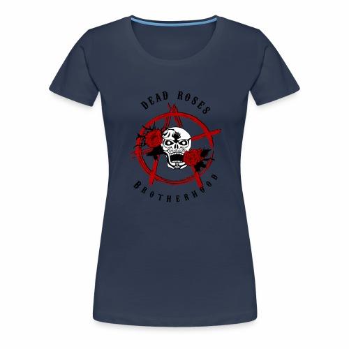 Dead Roses Anarchy Skull Black - Women's Premium T-Shirt