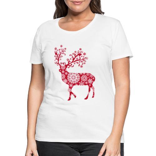 Hirsch Schneeflocke - Frauen Premium T-Shirt