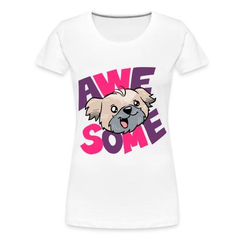 awesome dog - Women's Premium T-Shirt