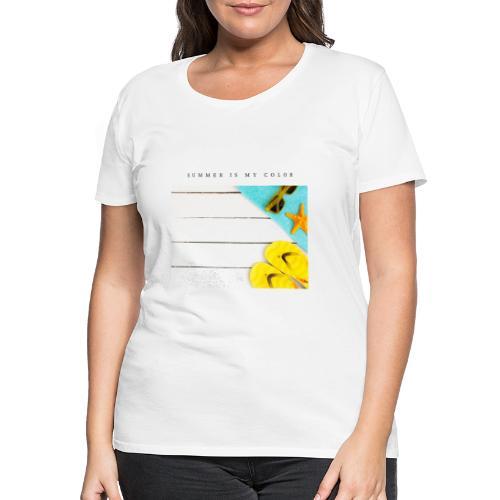 summer is my color - Maglietta Premium da donna