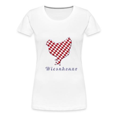 Wiesnhuhn rot blau - Frauen Premium T-Shirt