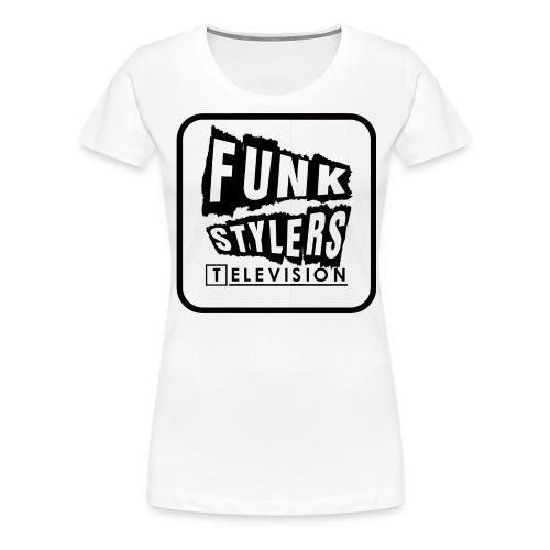 Bordered Plain - Women's Premium T-Shirt