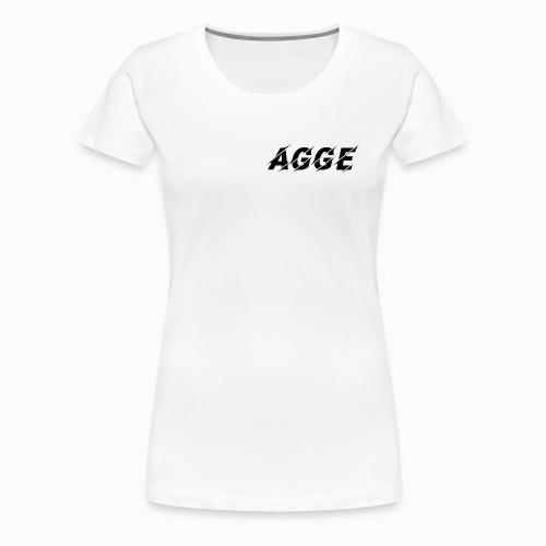 Agge - Svart Logga | Fram - Premium-T-shirt dam