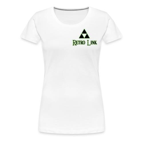 Logo Retro Link - T-shirt Premium Femme